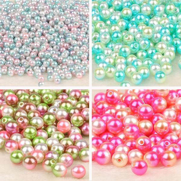 50 x pink fuchsia loose beads imitation pearls round necklace bracelet girls 8mm