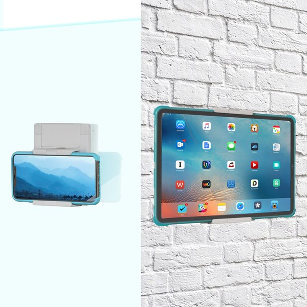 TFY Tablets and Smartphones Holder Wall Mount for Fits on Kitchen, Bathroom, Bedroom, Reading Room and more -White