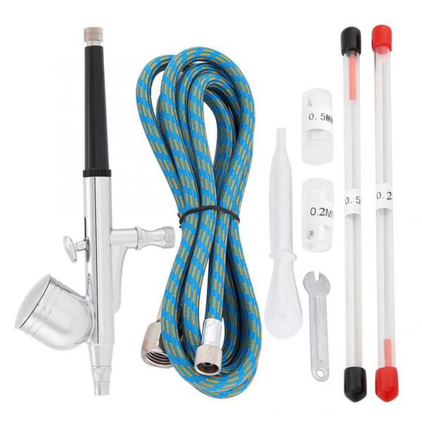Neues 0,3 0,5 mm Düse Airbrush Spray für Dual Action Airbrush Kompressor-Kit Craft-Kuchen-Farben-Kunst-Set Werkzeuge Spray