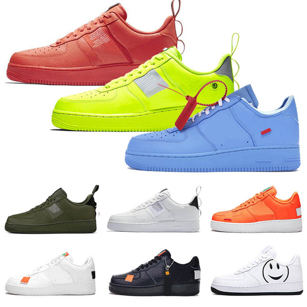 Großhandel Nike Air Force 1 AF1 Just Do It Neue Laufschuhe Für Männer Damen Dunk Utility Low High Weiß Schwarz Flachs Orange Rot Herren Trainers