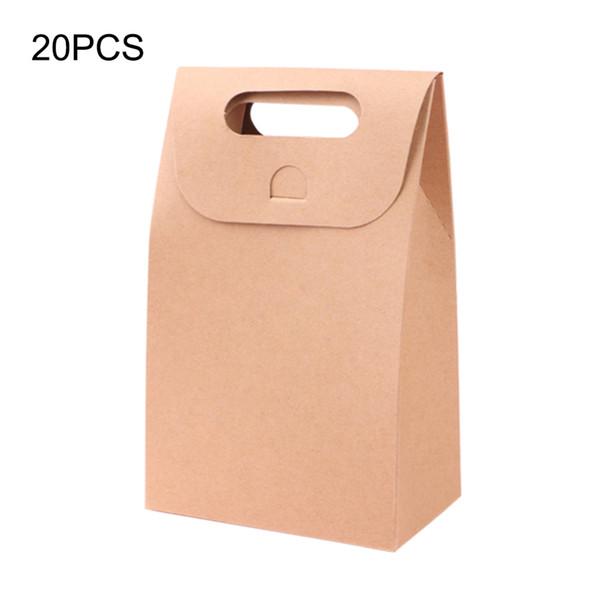 Birthday Party Supplies 20pcs Kraft Gift Paper Bag Festival Sacos do presente de casamento cupcake Box bolinhos bolo Package Embalagem