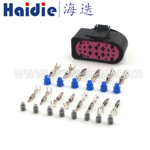 konnektör 1.5 Ücretsiz nakliye 2sets 14pin 1.5mm 3.5mm xenon farlar 1J0973737 su geçirmez lamba-soket konnektörü 1J0 973 737 fiş