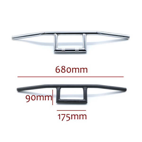 best selling 22mm Universal Motorcycle Refit Handlebar Retro Black Silver Scooter Bars Vintage Motorbike Handle Bar Motor Handles Moto Bar