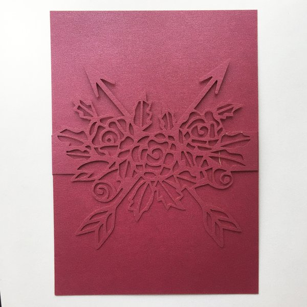 50pcs Lot Wedding Invitation Card Envelop Design With Big Rose Lovers Marriage Ceremony Blessing Gift Cards Birthday Party Invitations