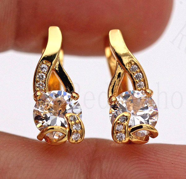 new arrival hoop earrings for women irregular earring with round zircon luxury jewelry for wedding party anniversary gift