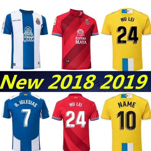 2018 2019 RCD Espanyol tercera camisetas de fútbol B. Iglesias P. Piatti  Darder WU d9718518e35af