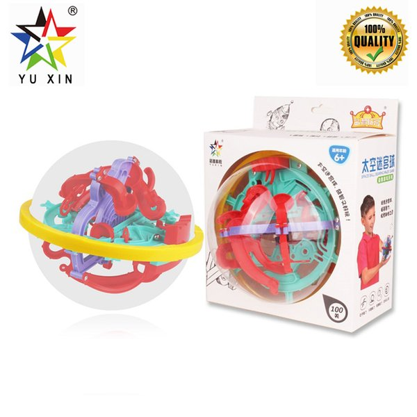 2019 YUXIN 3D Puzzle Maze Ball Magic Intellect Ball Labyrinth Sphere Globe Toys Challenging Barriers Game Brain Tester Puzzles