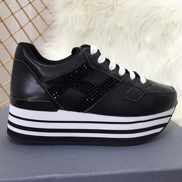 İtalya lüks Spuare Toe Bayan Lace Up Casual ayakkabı Trend Bayan Moda ayakkabı Hakiki Deri Kalın taban Rahat Nefes Ayakkabı