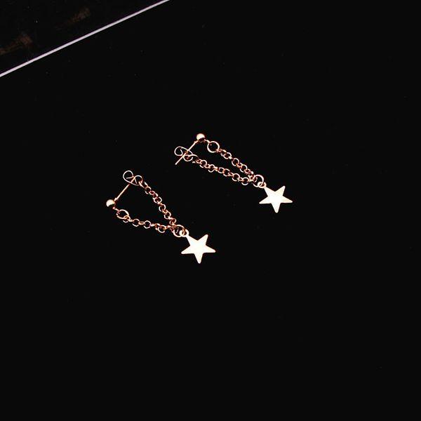 Золотой Цвет Звезды Серьги Стержня для Женщин Серьги Кисточкой Серьги Звезды Моды Длинные Молодая Девушка Ювелирные Изделия для 2019