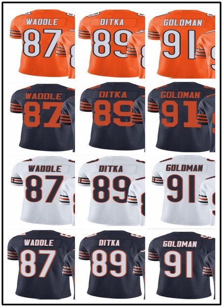 low priced a72ec ad2a7 2019 Custom Chicago Bears Jerseys#87 Tom Waddle 89 Mike Ditka 91 Eddie  Goldman#YOUTH#Men'S Limited Rugby Jerseys From Gjybest002, $18.1 |  DHgate.Com
