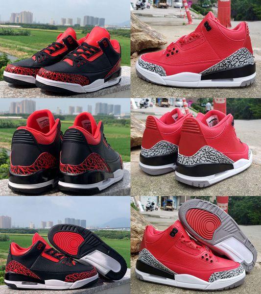 2019 Mens Jumpman 3 X DJ Khaled Grateful PE Basketball Shoes Kids For Men Fire Red 3s Man Basket Ball Sports Sneakers