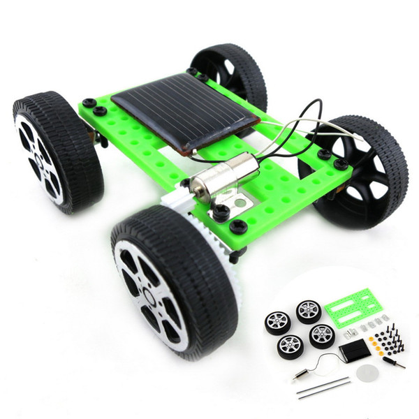 Toys For Children 1 Set Mini Solar Powered Toy Car Diy Abs Kit Child Educational Funny Gadget Hobby Gift