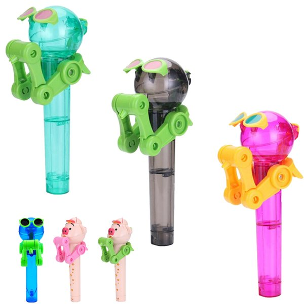 Lollipop Holder descompresión juguetes con caja de color Lollipop Robot descompresión caramelo juguetes a prueba de polvo para niños juguetes DHL SS155