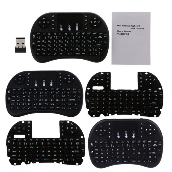 English 2 4GHz Wireless I8 Keyboard Touchpad Fly Air Mouse For Android TV  PS3 Multimedia Keyboard Natural Ergonomic Keyboard 4000 From Playgema,