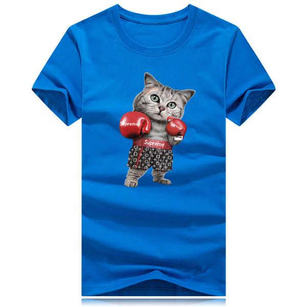 Fashion Super Men Designer Boxing Cat 3D printing Tee Shirts Hip Hop Man Casual T Shirt Unisex Cotton Short Sleeve Funny Tee male clothing