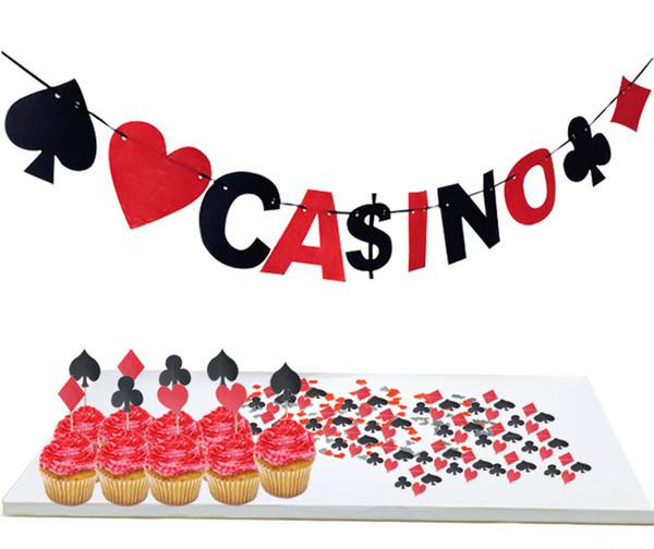 Acheter Table De Poker Papier De Confettis Premier Anniversaire Garçon Fête  Décoration Casino Confetti / Bannière Las Vegas Thème Décoration De Fête ...