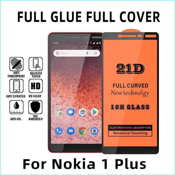 Vetro temperato a piena copertura per Nokia 1 plus Nokia6.2 Nokia3.2 9H Pellicola salvaschermo per Google Pixel3 3XL Spedizione gratuita