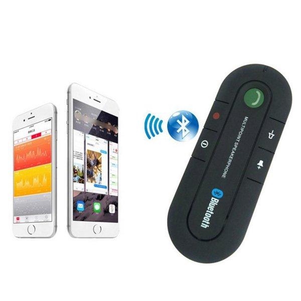 Mãos de kit de carro sem fio Bluetooth 4.1 Emparelhamento de registros com 8 celular. Orador Adaptador AUX Stereo Livre 10m