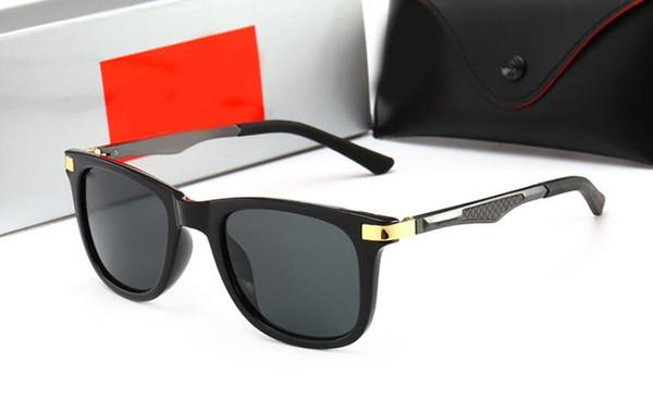 High quality new glass men's sunglasses Men's trend aluminum magnesium spring small temples sunglasses Fashion color mirror 4287