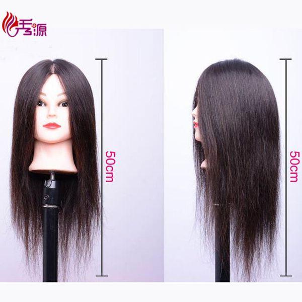 Xiuyuanhair Female Mannequin Head Hairstyles Hairdressing Styling Mannequin Head For Hair Dressers Dolls 100% Real Human Hair