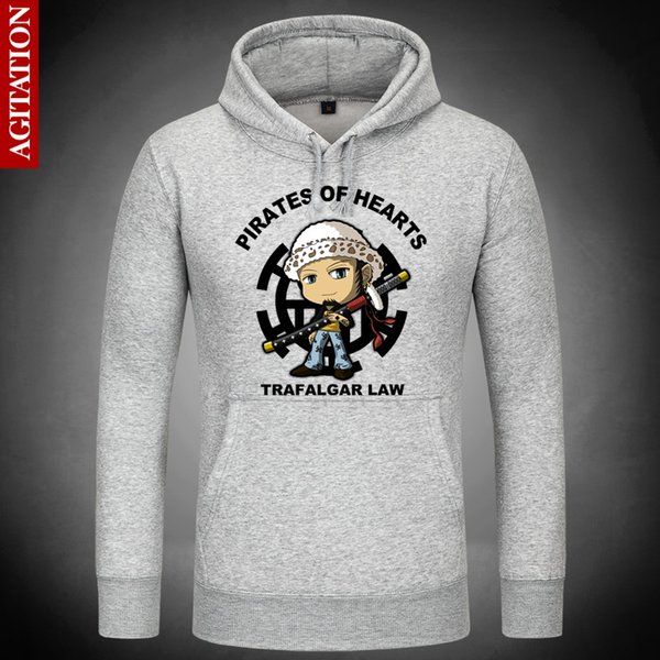 Hot Trafalgar Law Cute Hoodies Hoody Pullover Sweatshirt Sweatshirts Outerwear Clothes Coat Multi-color Anime One