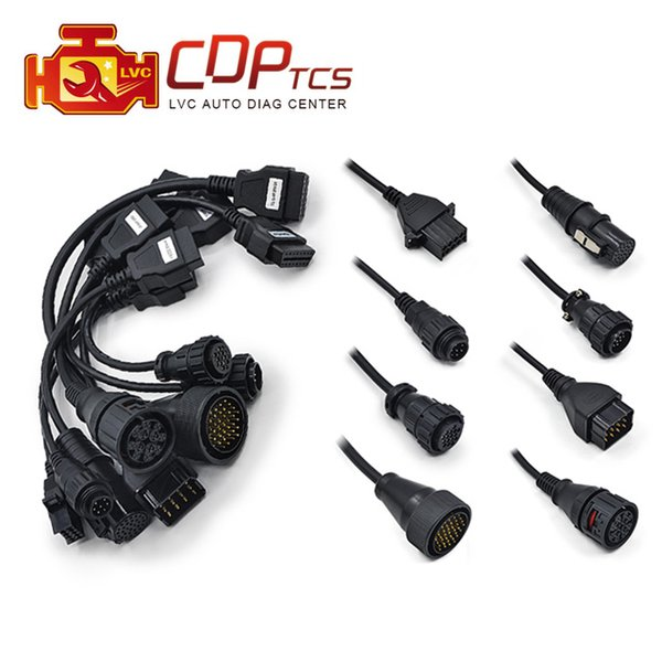 Truck Cables for CDP TCS Pro multidiag pro OBD2 OBDII full set Truck cables scan 8 pcs adapter connector cable leads