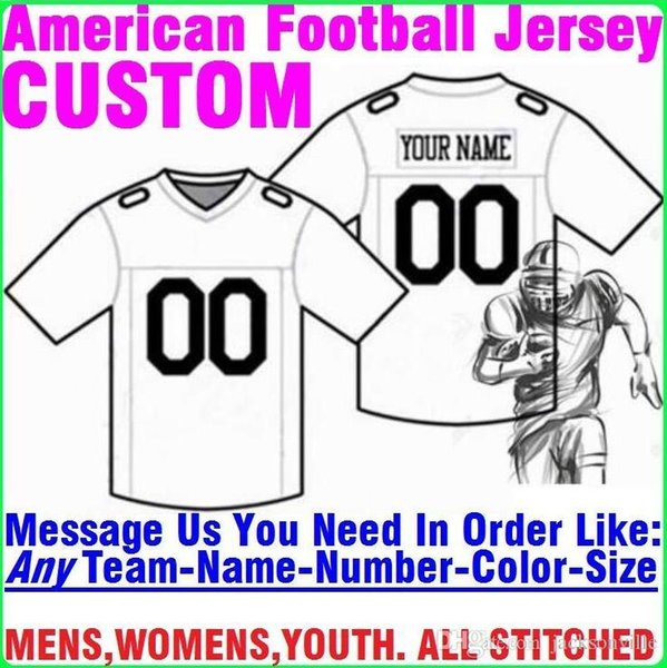 Personalized american football jerseys Custom Tennessee Denver college authentic cheap baseball basketball mens womens youth USA 4xl apparel
