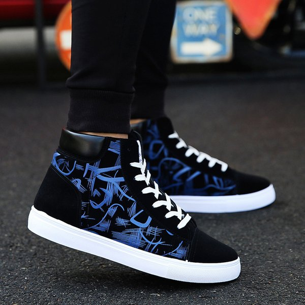 Fashion Men Shoes New Men Casual Shoes High Top Sneakers Men Vulcanized Shoes Platform Sneakers Quality Mens Sneakers MasculinasDress