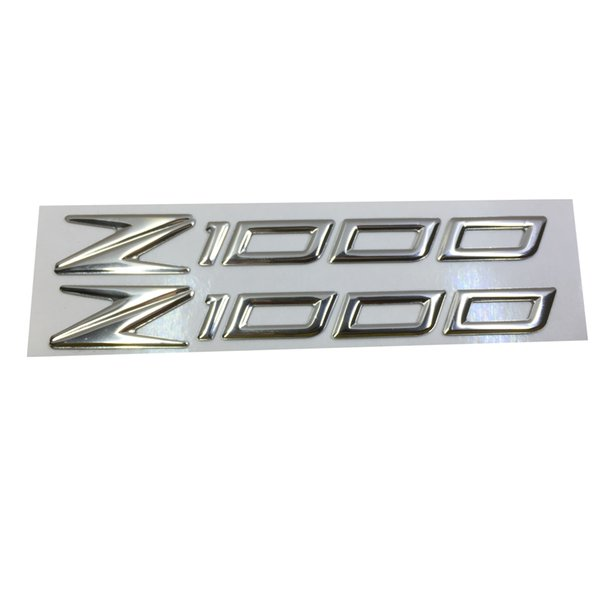 CHROME MOTORCYCLE EMBLEM BADGE DECAL 3D TANK WHEEL LOGO FOR Z1000 STICKER