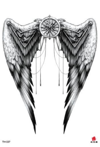 Temporäre Tätowierung Gefälschte Tätowierung Aufkleber Flügel Zurück Arm Tätowierungen Aufkleber Tatouage Wasserdicht Flash Tatto Für Männer Frauen Mädchen