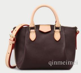 Kahverengi mono kadın omuz çanta hamur tatlısı klasik stil M48815 Marka toz çantası ile gelen seri numarası