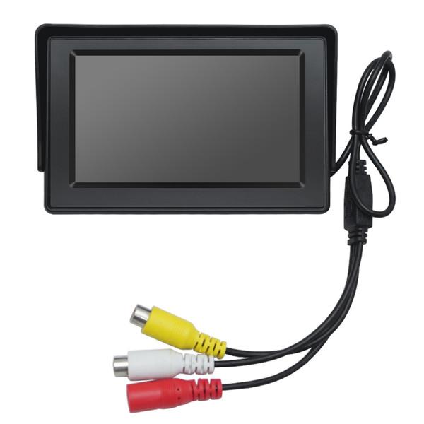 wholesale 4.3inch Digital Display Windshield LCD Car Monitor For Reversing Backup Camera DVD VCR #4590