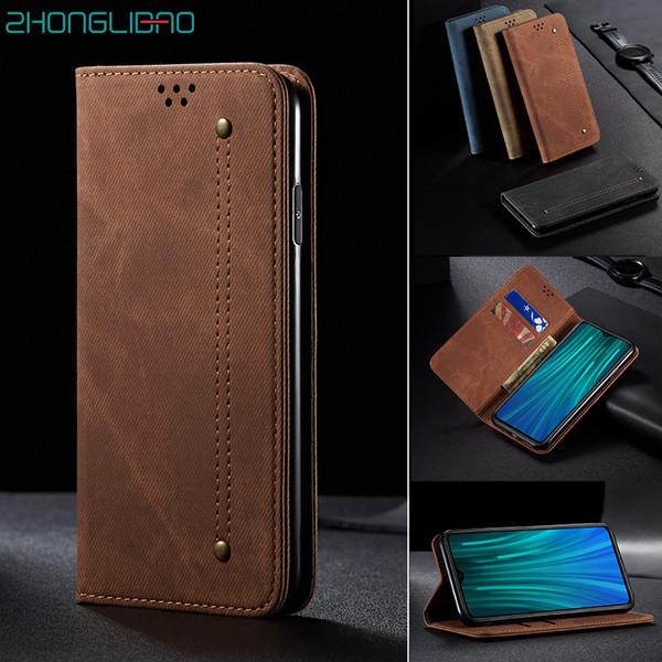 Flip caso de couro de luxo Denim para Xiaomi Mi 9 9t cc9 Pro Cc9e a3 redmi 8a 7a K20 Nota 10 T8 8 7 Carteira Pro magnética Capa de Livro