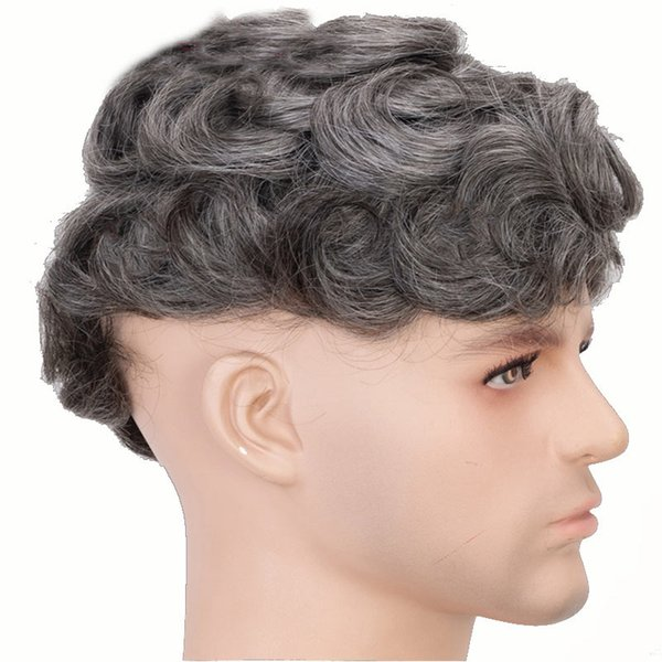 2019 Grey Men Toupee 100% Human Hair Toupee For Men Makes Young Man Looks  Like A Charming Mature Man From Dh15817232140, $157.59 | DHgate.Com