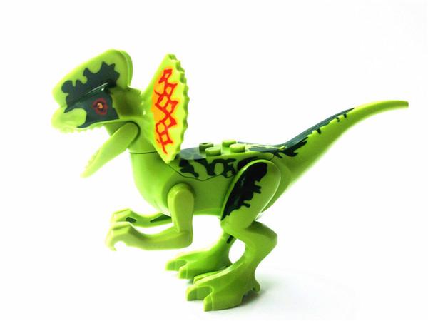 Парк юрских работ Строительный блок из кирпича Динозавр птерозавра Индомирус T-Rex Трицератопс детские игрушки детям подарок образовательная модель YG77001