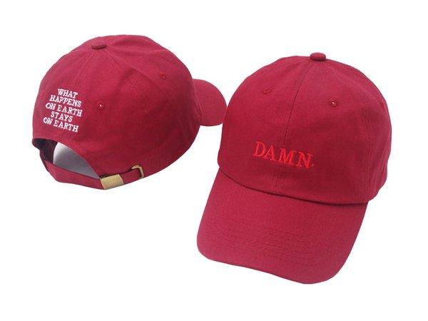 High Quality Rapper Kendrick Lamar Damn Snapback Cap Embroidery DAMN Dad Hat  Women Men Baseball Cap 542c94cd4084