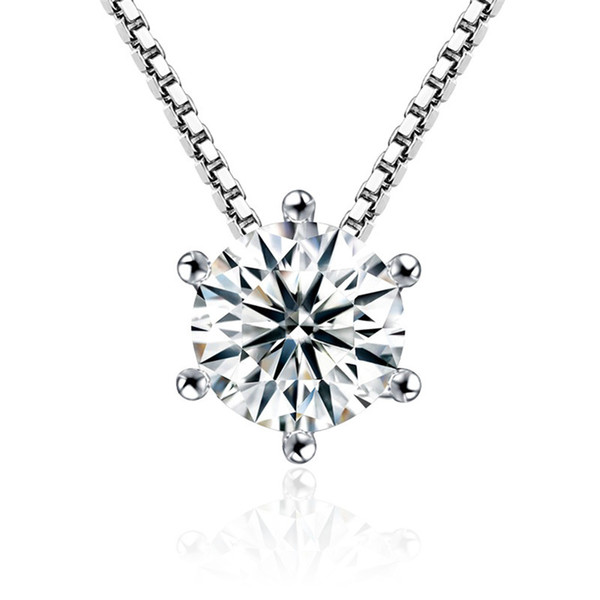 Crystal from Swarovski Clear CZ Crystal Cubic Zirconia Pendant Chain Necklace for Women Fashion Jewelry Accessories Anniversary Gift
