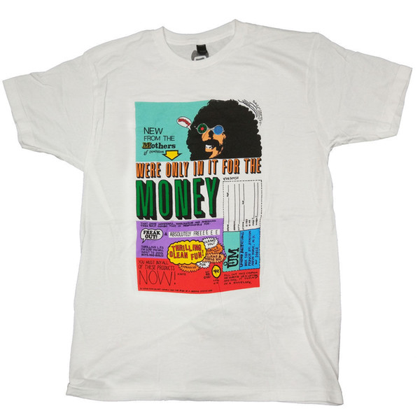 Frank Zappa T Shirt - Only In It For The Money Men Women Unisex Fashion tshirt Free Shipping Funny Cool Top Tee Black