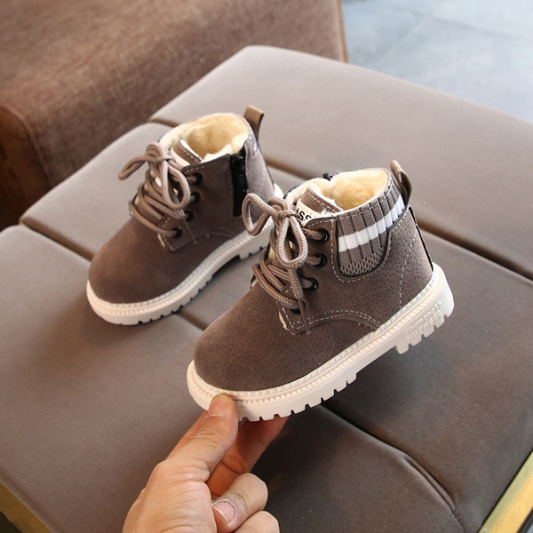 New kids boots snow boot Winter Toddler Infant Kids Baby Girls Boys Warm Boots Lace Up Shoes Short Ankle Booties girls