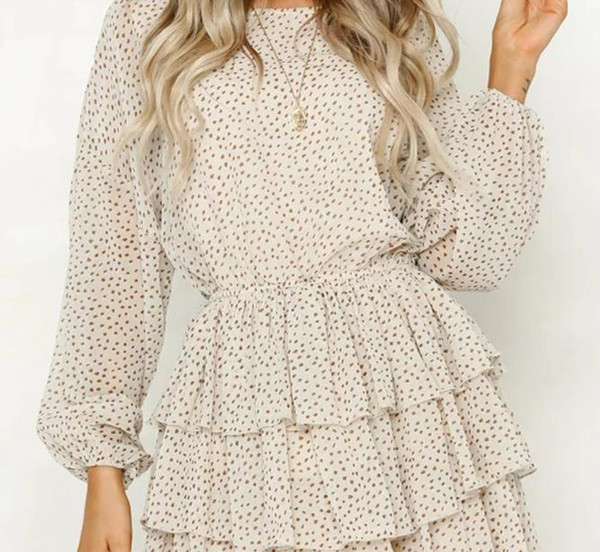 polka dot dress women white backless sexy dresses long sleeve autumn summer sundress 2018 female vestidos