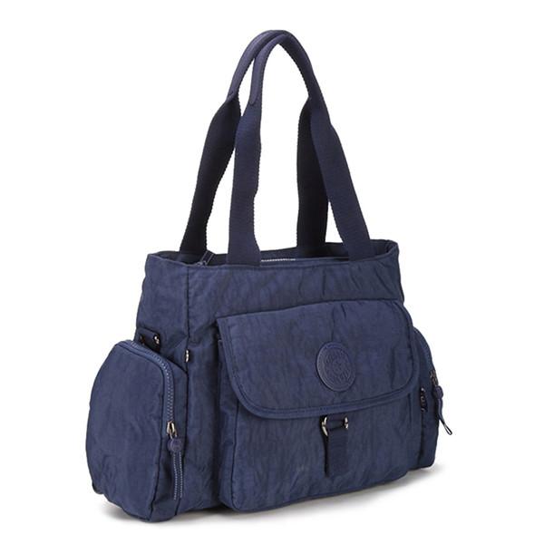 good quality Top-handle Bag Female Handbags Women Bags Designer Nylon Waterproof Bolsas Beach Purse Casual Tote Zip Sac Femme