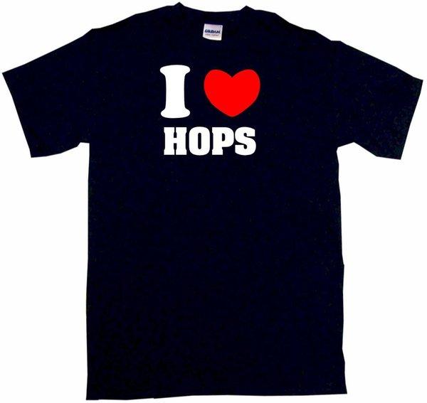 Я сердце любовь Хмель мужская футболка выбрать размер цвет маленький-6XL топ Бесплатная доставка футболка смешно 100% хлопок футболка