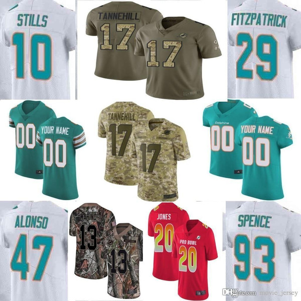 newest 715d1 ab942 2019 Custom Men Youth Women Miami Dan Marino Minkah Fitzpatrick Frank Gore  Kenny Stills Ryan Kiko Alonso Dolphins Camo Elite Limited Jersey From ...
