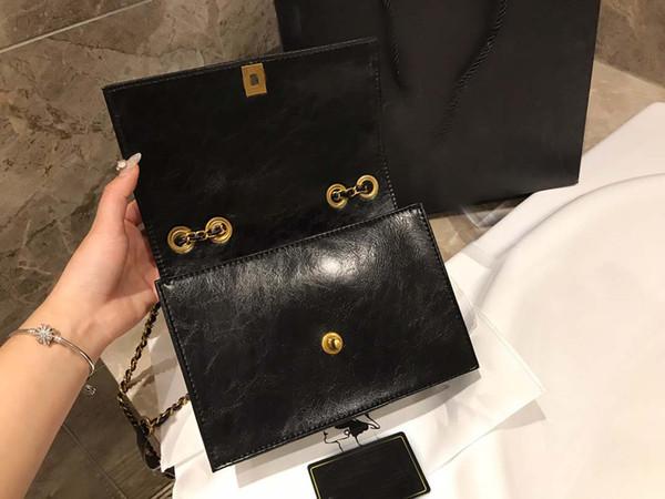 schwarz weiße Farbe Fashion Satchel Designer Schultertasche aus echtem Leder hochwertige Kette Handtasche Crossbody Geldbörse Lady Tote Taschen