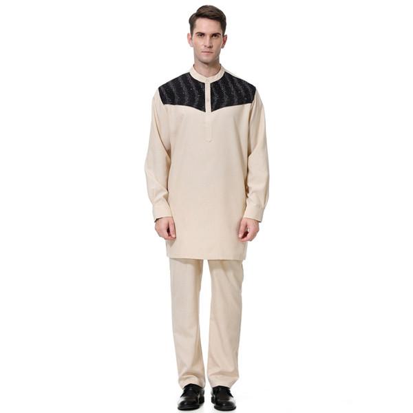 Vêtements grande taille Jilbab Robe musulmane Loose Style Moyen-Orient Caftan Dubaï, Arabe Musulman Jubba Thobe Islamique pour Homme Abaya