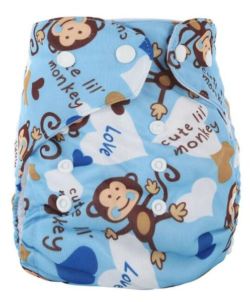 Newborn Cotton Baby Cloth Diaper Washable Cotton Diapers Cover Adjustable Baby Diapers Waterproof Boys Girls Diapers Many Patterns Wholesale
