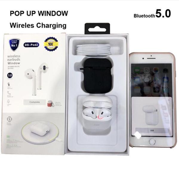 Fones de ouvido sem fio Pod2 suportam carregamento sem fio e vêm com conexão Bluetooth show no telefone celular Awontor fone de ouvido