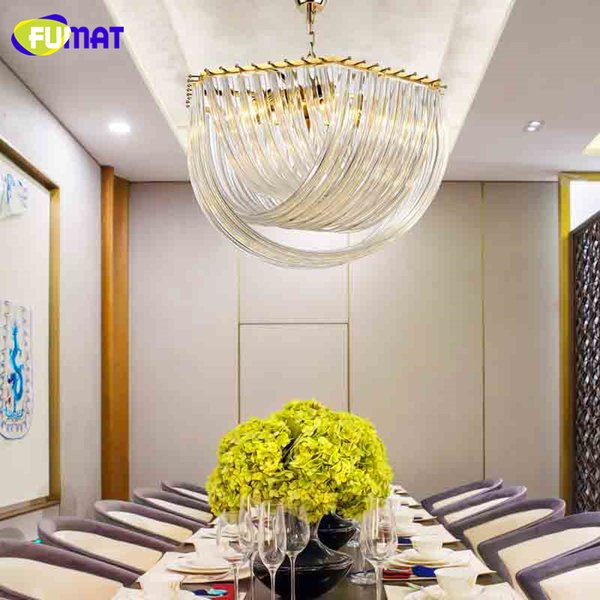 FUMAT Glass Cross Pendant Lights Dining Room Lights Postmodern Creative Suspension Lightings For Living Room Lustre Pendant Lamp