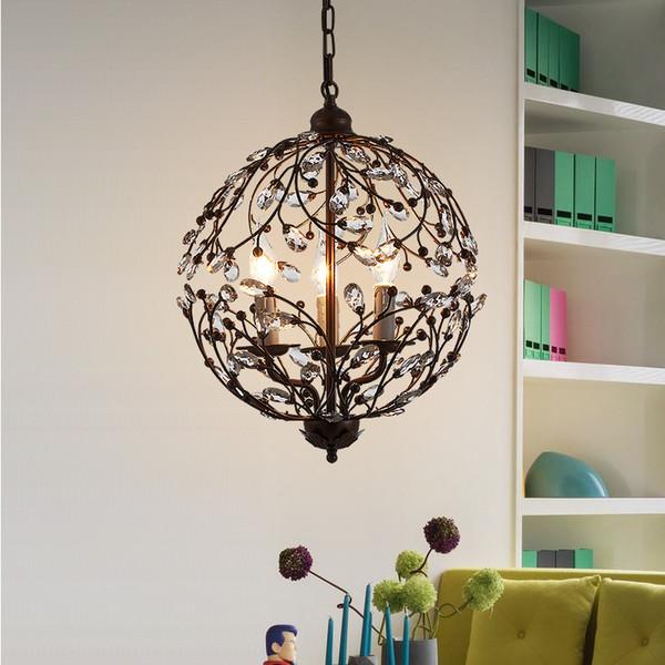Moderne kristall pendelleuchten wohnzimmer küche esszimmer hängelampe dekor hause leuchten schwarz metall e14 110-220 v