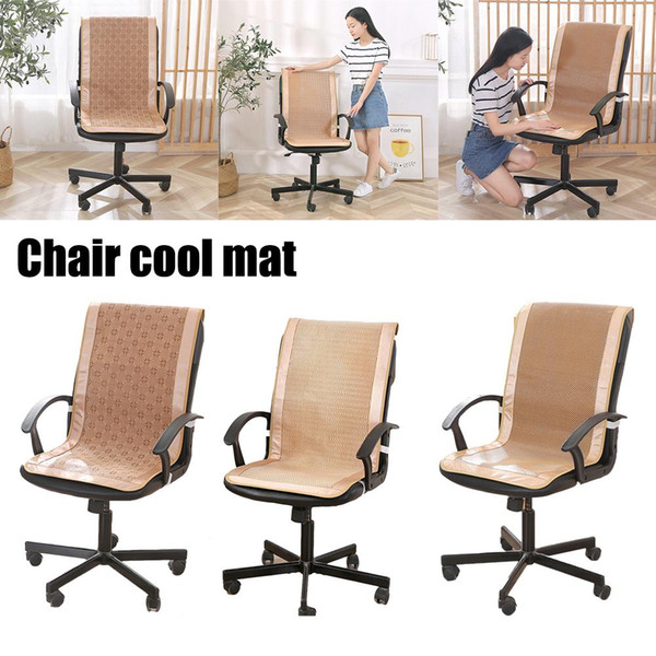 Summer Rattan Weaving Chair Cushion One-piece Seat Backrest Cushion Cool Breathable Office Chair Mat Pad Office Cool Mat